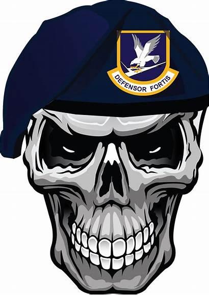 Skull Clipart Vector Beret Army Soldier Skulls