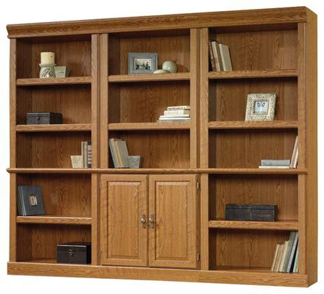 Oak Finish Bookcase by Sauder Orchard Wall Bookcase In Carolina Oak Finish