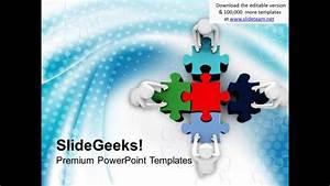 3d Man Assembling Jigsaw Puzzles Business Powerpoint