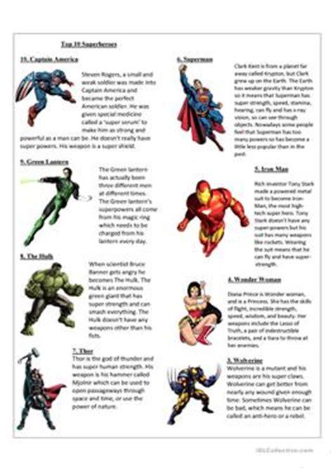 44 Free Esl Superhero Worksheets
