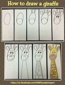 Step by step how to draw a giraffe. My 2nd and 3rd graders ...