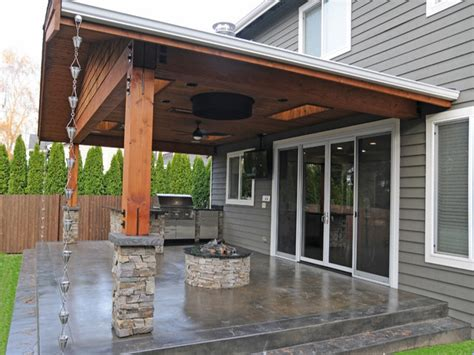 porch and patio gas pit for covered porch