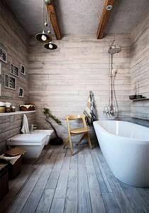 le theme du jour est la salle de bain retro With carrelage sur plancher bois salle de bain