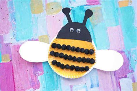 paper plate bee craft easy project  kids darice