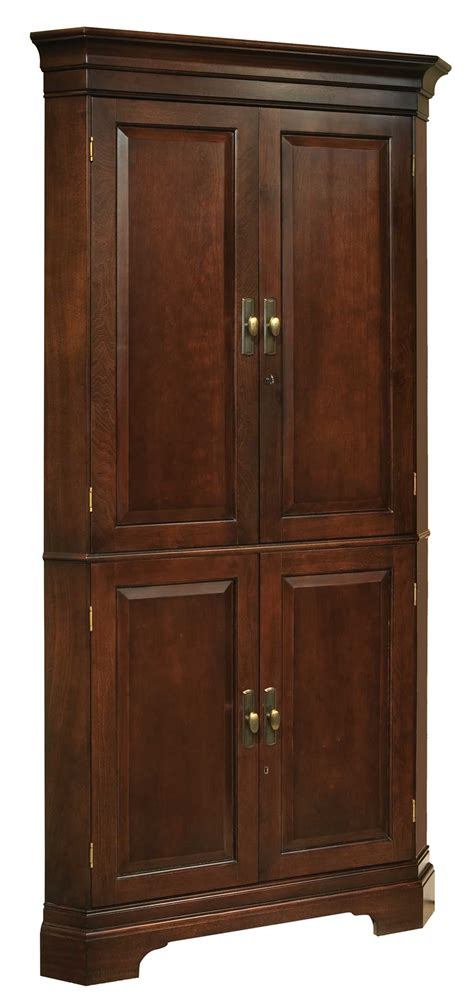howard miller wine bar corner cabinet  cherry