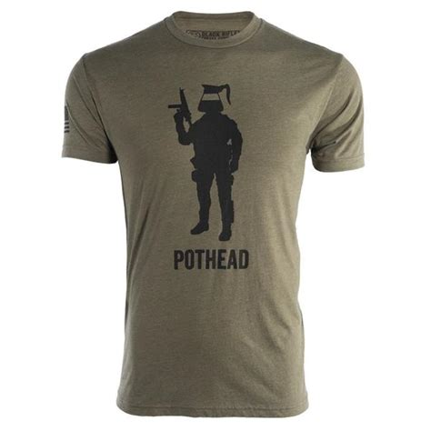 It won't be around forever so buy yours here today! Pothead Shirt - Black Rifle Coffee Canada