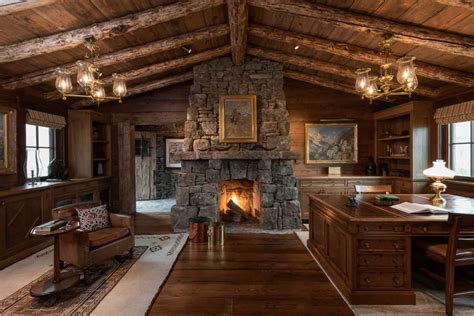 Rustic : 15 Motivational Rustic Home Office Designs That Will