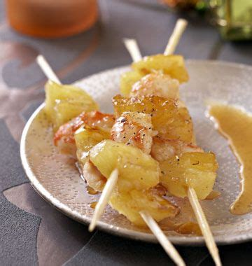 recette cuisine noel facile brochettes de gambas et ananas recettes de cuisine