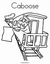 Caboose Coloring Train Pages Conductor Printable Drawing Template Outline Lego Getcolorings Built California Usa Twistynoodle Getdrawings Kerra Noodle sketch template