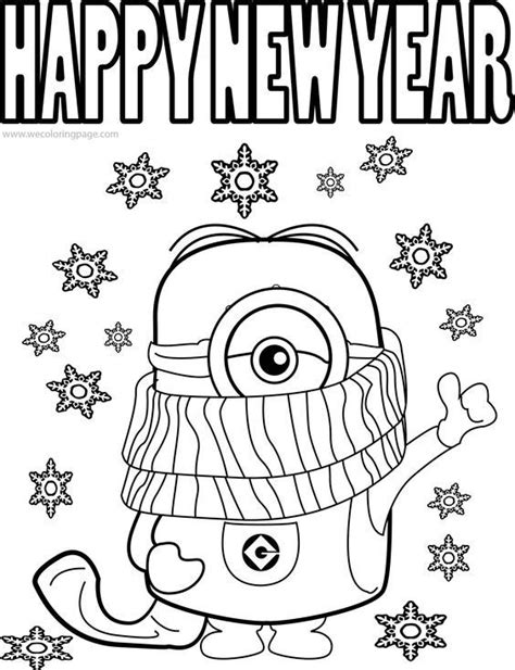 year  coloring page cartoon happy  year