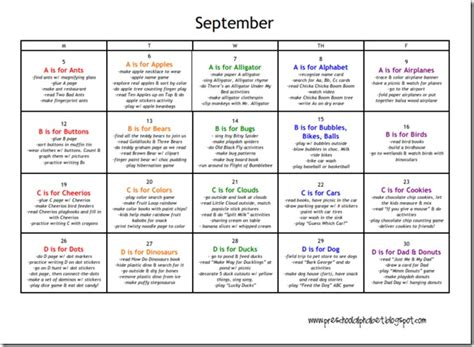 preschool curriculum themes free printable calendars a calendar for each month with 735