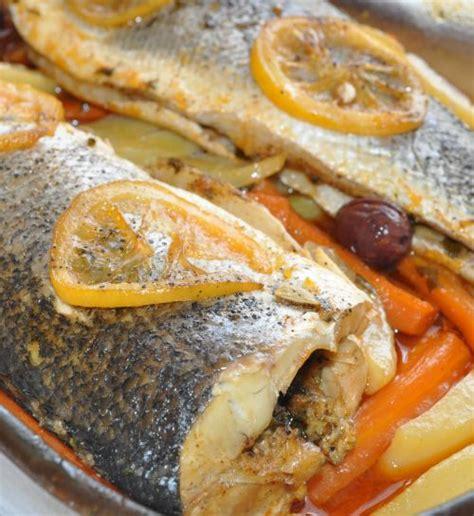 cuisine bar poisson recettes poisson au four avec légumes