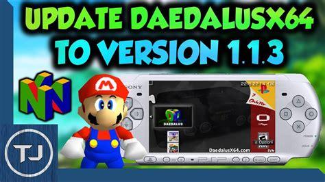 Pspps Vita How To Update Daedalusx64 To Version 113