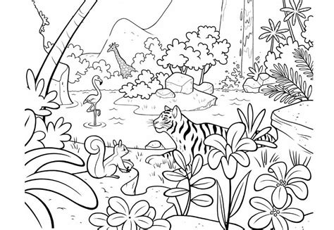Coloring Jungle by Jungle Coloring Pages Animal Coloring Pages Jungle