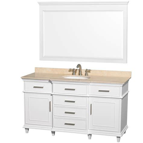 60 bathroom vanity single sink ackley 60 inch white finish single sink bathroom vanity