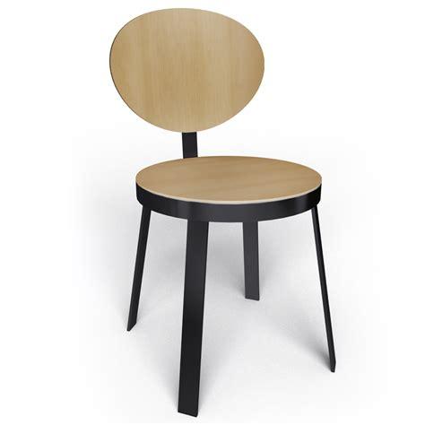 chaise design noir objeto bim y cad chaise ds no6 acier noir et chene naturel souvignetdesign