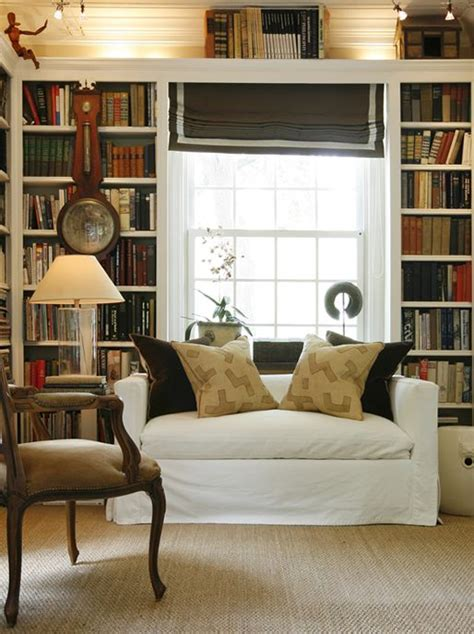 bookcases that look like built ins take cheap bookcases line them next to each other and