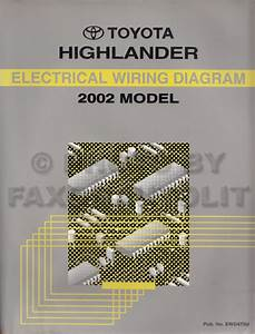 2002 Toyota Highlander Wiring Diagram Manual Original
