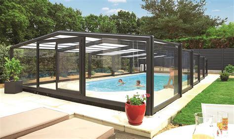 abri haut piscine abri piscine mi haut mod 232 les t 233 lescopiques coulissants