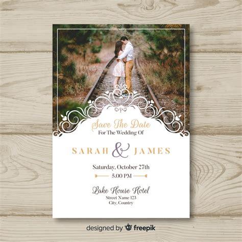 wedding invitation card  photo  vector