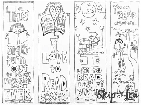 bookmarks to color free coloring bookmarks skip to my lou