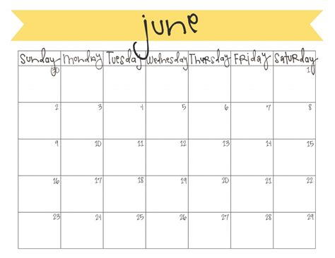 june calendar template 2017 june 2017 calendar calendar 2017 printable