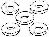 Donut Coloring Pages Simple Printable Donuts Food Doughnut Sheets Easy Bestcoloringpagesforkids Print Getcolorings Popular Rainbow Disney Abrir Fun Dough sketch template