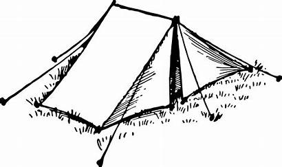Tent Clipart Sketch Vector Domain Circus Twnt