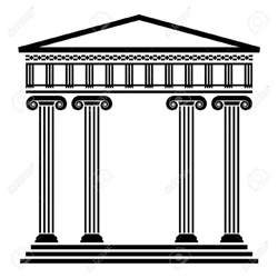 wedding backdrop panels vector ancient architecture with columns royalty