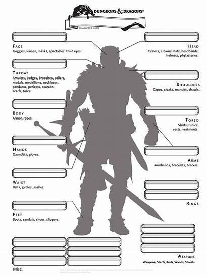 Sheet Character Rpg Inventory Dnd 5e Dragons
