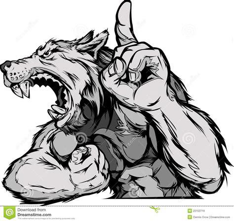 Wolf Mascot Body Cartoon Stock Vector Image Of Cartoons