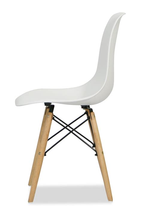 Stuhl Weiss Design by Eames White Replica Designer Chair Dining Room Furniture