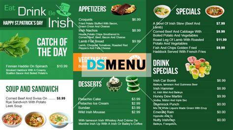 dsmenu restaurant menus digital signage menu board