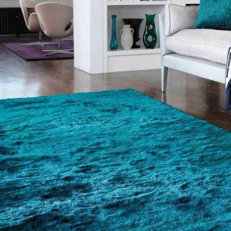 tapis moderne bleu turquoise batignolles teal tapis chic