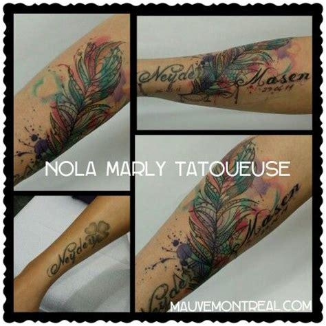 cover  plume dentelle aquarelle tattoo watercolor