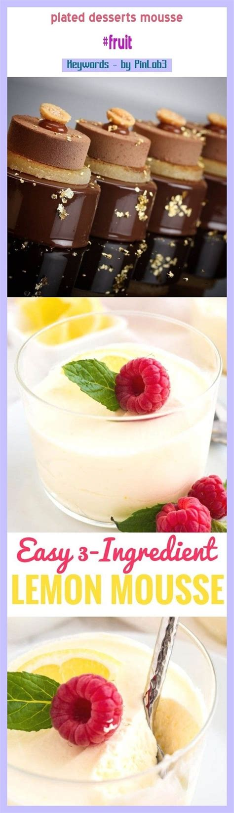 Whether it's brownies, pie, or cake that strikes your fancy, our delicious dessert recipes are sure to please. Plated desserts mousse #fruit #gardens. plated desserts fine dining, plated desserts simple ...