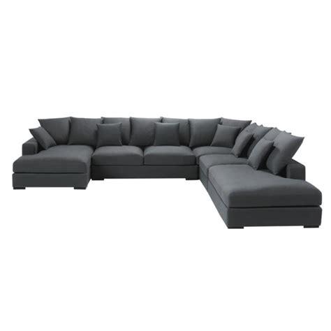canapé loft maison du monde 7 seater cotton modular corner sofa in grey loft maisons