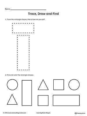 trace draw  find rectangle shape myteachingstationcom