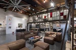 Deco Style Industriel : la d co industrielle pour le salon 19 id es modernes ~ Melissatoandfro.com Idées de Décoration