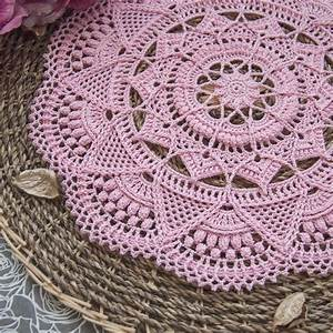Textured Crochet Doily With Intricate Details  This