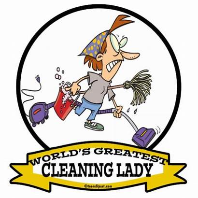 Cleaning Housekeeping Cartoon Lady Cartoons Funny Clipart