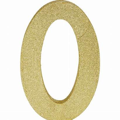 Number Glitter Gold Sign Signs Icon Party