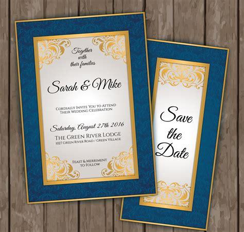 elegant wedding invitation designs examples