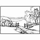 Coloring Country Pages Landscapes Path Scenes Pathway Sunset Lake Printable Print Designlooter 300px 12kb Freeprintablecoloringpages Hpcs Pop sketch template