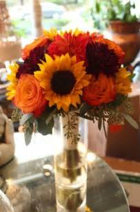 Sunflower Bouquets for Fall Wedding Flowers