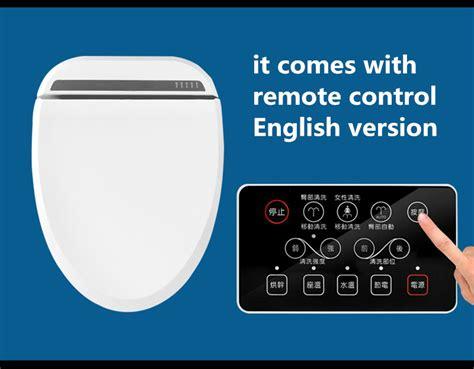 Intelligent Heated Toilet Seat Remote Control Smart Bidet