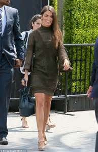 nikki reed shows   lovely legs   green mini dress