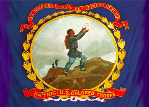 Battle Flag of the 24th Regiment, USCT (US Colored Troops ...