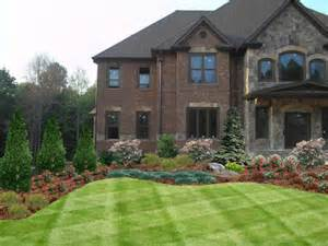 simple chateau design ideas landscaping foundation landscaping ideas
