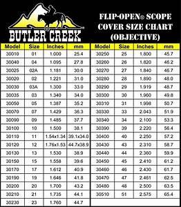 Butler Creek Scope Cover Fit Chart Lens Cap Scope Cap Butler Creek Flip Open Ebay